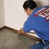 installing shoe molding when installing tiles