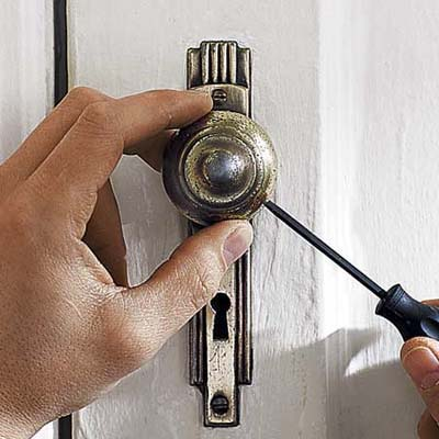 reinstall door hardware