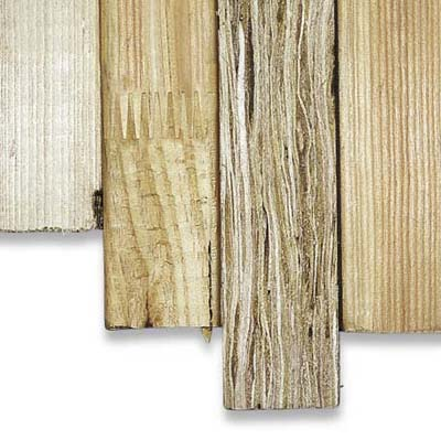 Various types of framing lumber