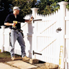 hanging the gate of a picket fence