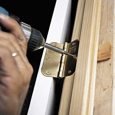Replace hinge screw how to install a prehung door this - How to install a prehung exterior door ...