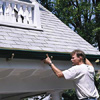 Installing a gutter 
