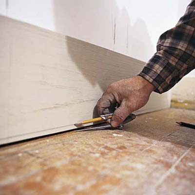 Scribe For A Tight Fit How To Install Baseboards This