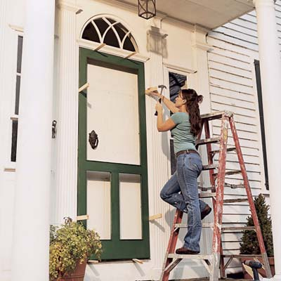 Shim The Door In Opening How To Build A Screen Door