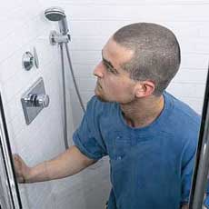 installing a shower door tout