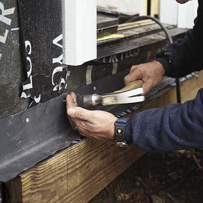 protecting the ledger on an on-grade deck