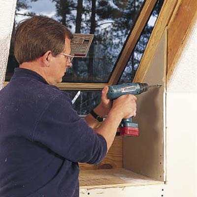 Cover the viewing shelf with 1/2-inch plywood followed by a layer of drywall