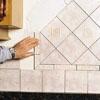 Set the decorative tiles