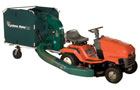 leaf vacuum which attaches to a lawnmower