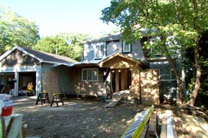 the Auburndale house exterior during renovation