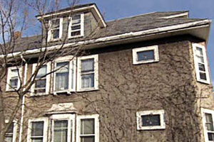 the East Boston house project before renovation begins