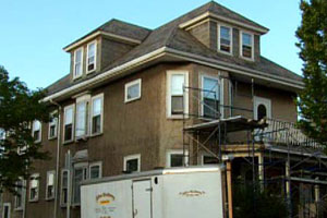 renovation continues at the East Boston house project