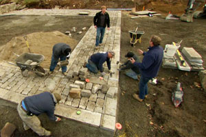 building a walkway at the Essex house project