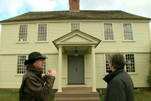 Norm travels in upstate New York with preservation carpenter Brian Cooper