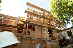renovation begins on the Los Angeles TV project house