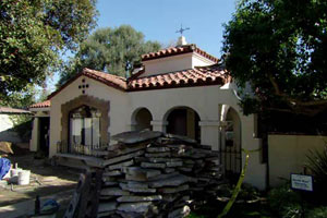 more renovation at the Los Angeles TV project house