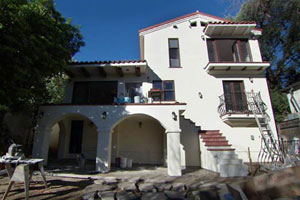 renovation near completion at the Los Angeles TV project house