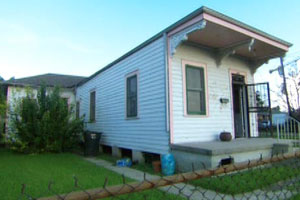 the New Orleans house project before renovation begins