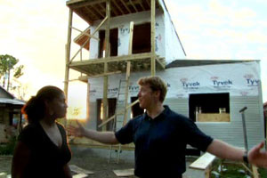 Kevin O'Connor and the homeowner at the New Orleans house project