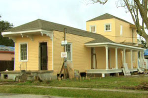 exterior front of the New Orleans house project
