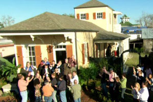 the finished New Orleans house project wrap party