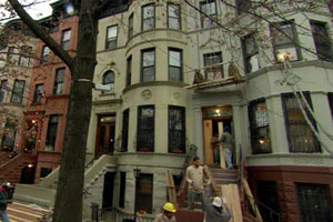 exterior renovation at the New York City house project