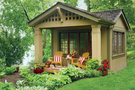 In This Case You Can Have A Nice Adorable House With Small Outdoor  Porch.Perhaps, You Prefer A Natural Nuance, So You Can Build A Small House  From A Shed ...