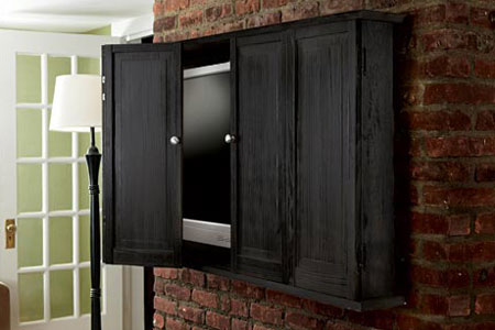 DIY Flat Screen TV Wall Cabinet