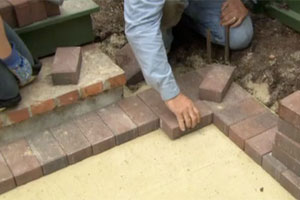 building a brick patio