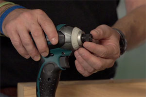 the quick-change hex chuck, or sleeve, of an impact driver