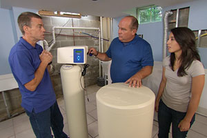 Richard Trethewey installs a whole-house water softener