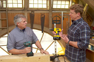 Tom Silva explains the proper use of a drill/driver with Kevin O'Connor