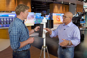 Jim Cantore explains the importance of a weather station to Kevin O'Connor