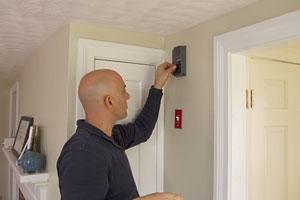 Scott Caron replaces a broken doorbell chime