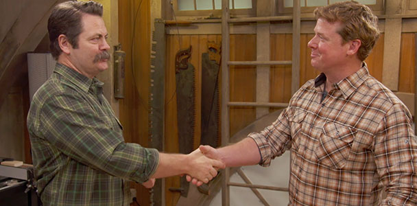 Nick Offerman and Kevin O'Connor