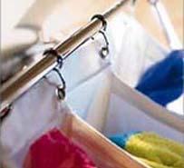 Hanging laundry bag.