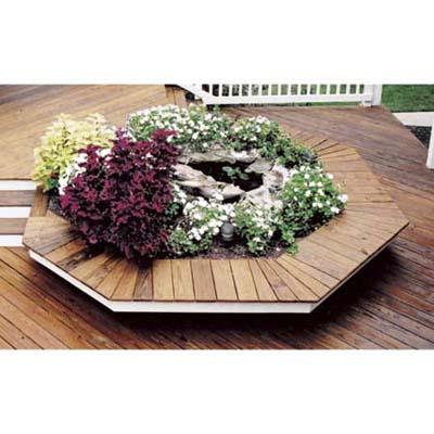 permanent planters as deck built-ins