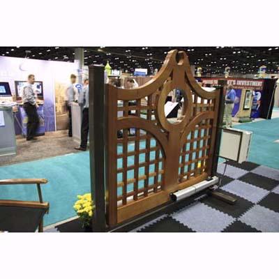 custom wood gate for driveway