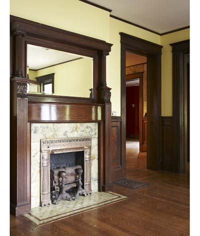 ornate gas fireplace