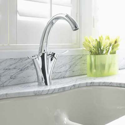 Carafe kitchen faucet with water filter from Kohler