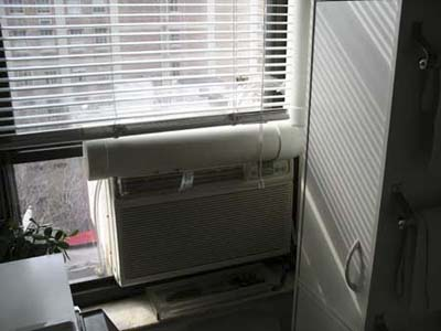 air conditioning system in studio apartment