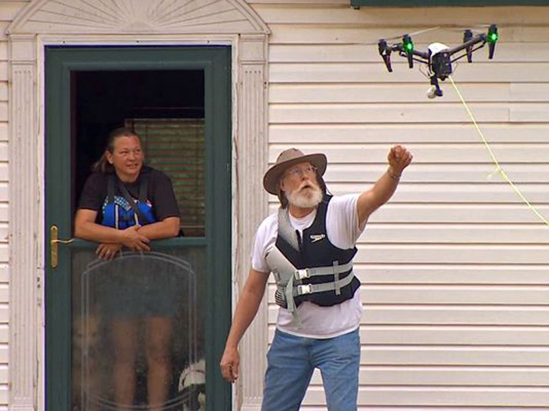 Drone Pilot Garrett Bryl Offers a Lifeline During Texas Floods