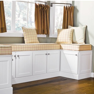 Build A Window Seat Using Stock Kitchen
